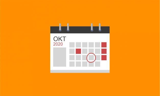 Agenda Oktober 2020